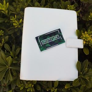 Other - A5 White leather planner cover binder
